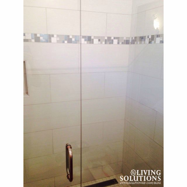 Large Tile with Accent tile shower*