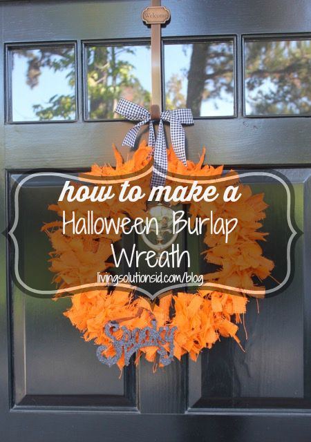 how to halloween burlap wreath