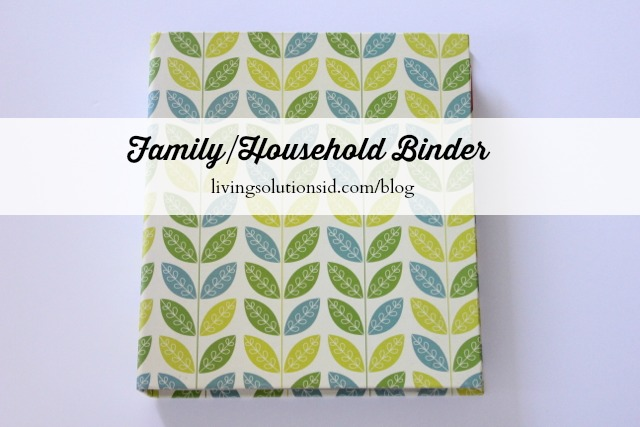 Family Household Binder