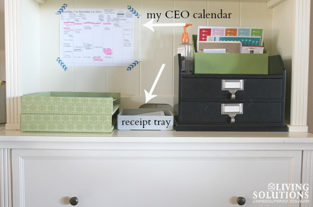 Reciept Tray Organization