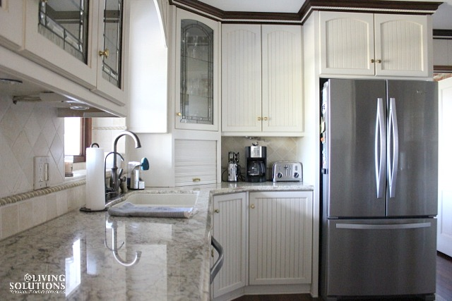 White Kitchen Stainless appliances