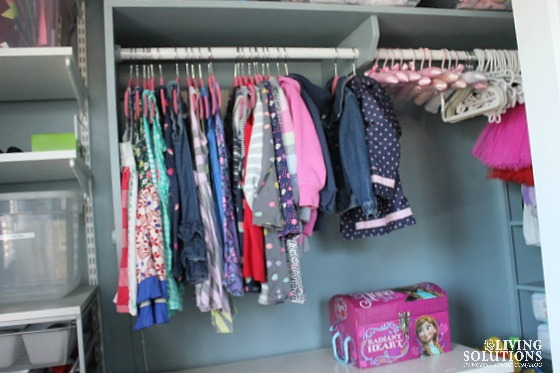 Little Girl's Organized Closet