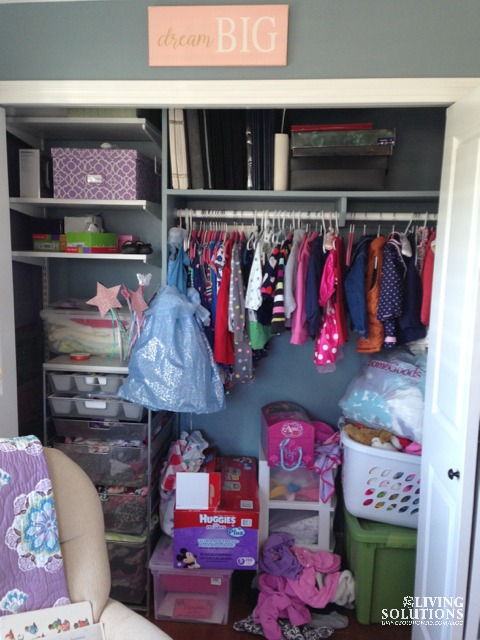 Messy Little Girl Closet