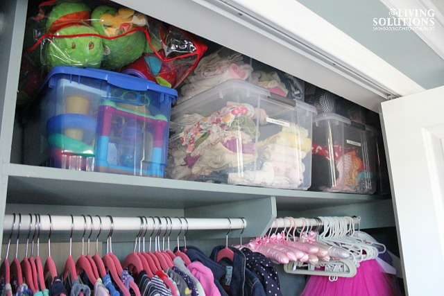 Organized Kid's Closet Shelves