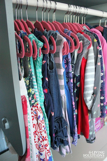 Organized Little Girl Closet