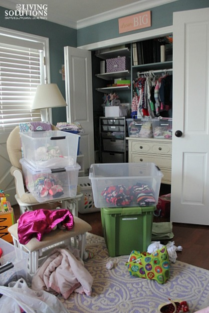organizing a closet-worse before it gets better