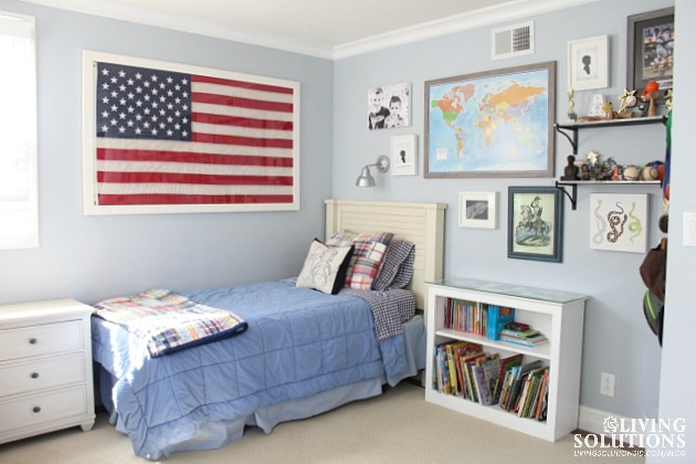 Boys Room Gallery Wall with Flag