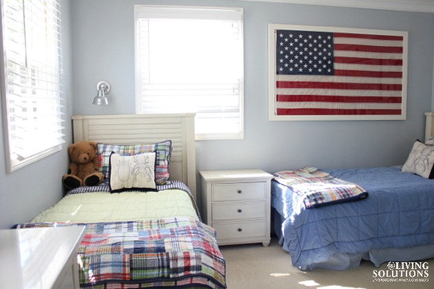 Pottery Barn Kids Madras Quilt American Flag