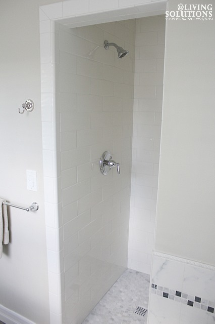 oversized subway tile shower