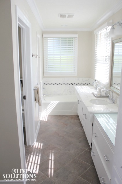 white and bright bath