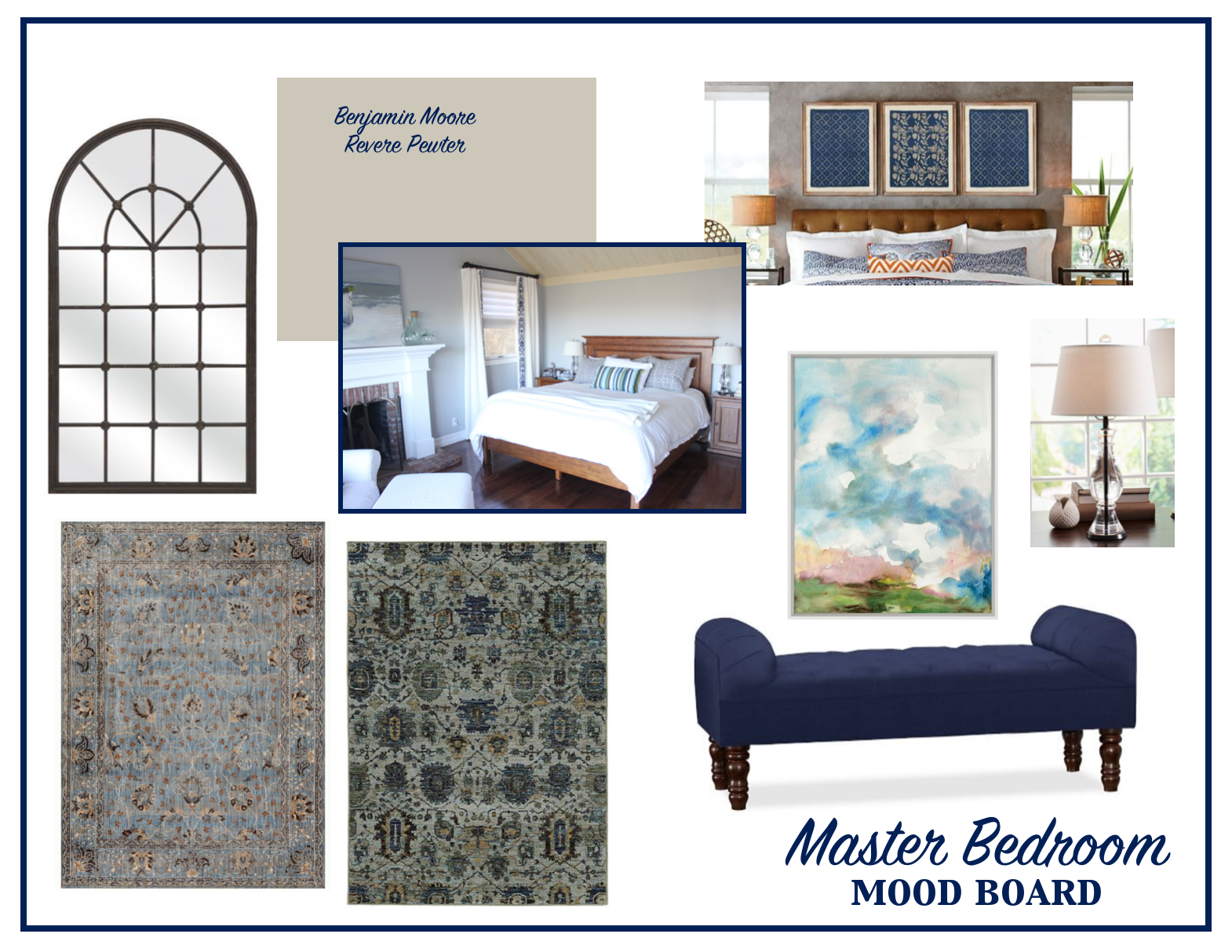The Design Process Master Bedroom Mood Board Living