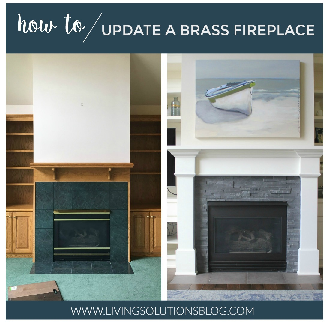 how to update a brass fireplace living solutions blog