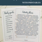 Summer Goals & Activity Ideas with Printables